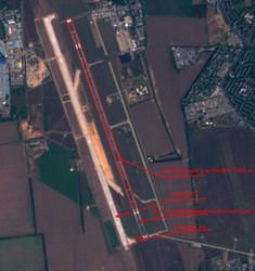Старая взлетно-посадочная полоса одесского аэропорта временно станет короче на 450 метров