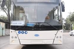В Запорожье прибыл первый троллейбус «Днипро Т203»
