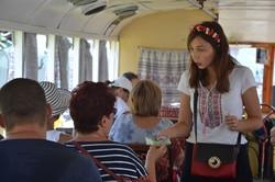 Как в Одессе День Независимости Украины на трамваях отмечали