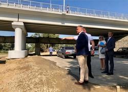 Во Львовской области открыли реконструированный мост через Днестр длиной около 180 метров