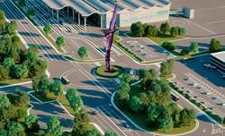 Возле нового терминала Одесского аэропорта появится скульптурная композиция «Сфера»