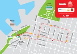 В субботу и воскресенье в центре Одессы ограничат движение транспорта из-за проведения международного полумарафона