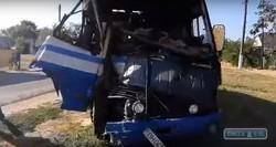 Неподалеку от Одессы столкнулись два рейсовых автобуса