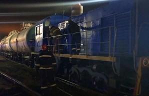 На станции Бородянка в Киевской области горел тепловоз