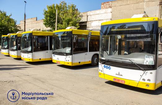Мариуполь получает новые автобусы МАЗ