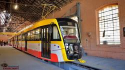 Новые трамваи на улицах Одессы (ФОТО)