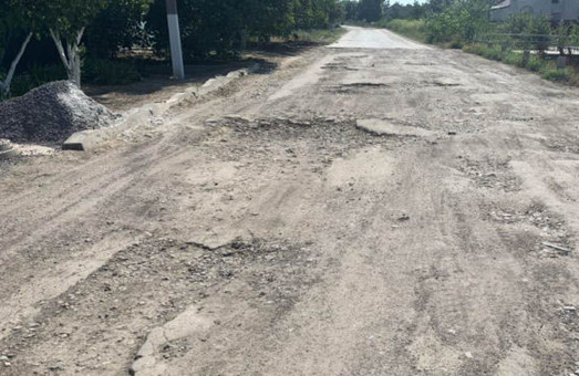В Килии Одесской области начали ремонтировать улицу Тараса Шевченко