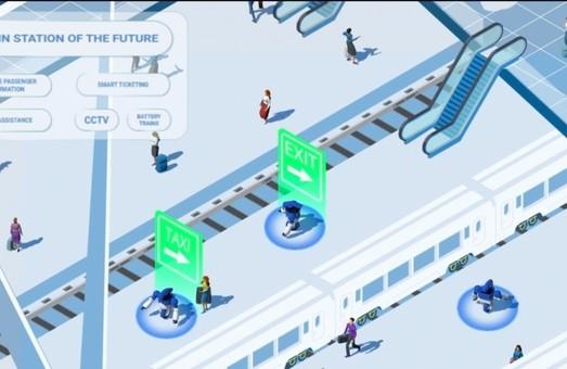 Японская компания «Hitachi» показала, как может выглядеть вокзал будущего
