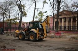 Реконструкция улицы Софиевской в Одессе: кладут асфальт (ФОТО)