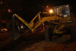 В Днепре по ночам ремонтируют трамвайные пути