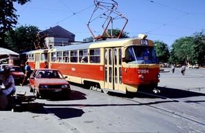 Трамваи Одессы в 1993 году на фото британского эксперта