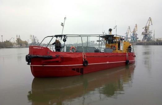 В порту Рени под Одессой отремонтировали судно-нефтемусоросборщик