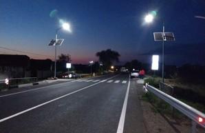 Пешеходные переходы на трассе Одесса – Рени стали безопасней – на них появилось автономное освещение