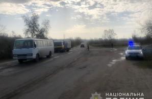 Под Одессой грузовик врезался в автобус с пассажирами