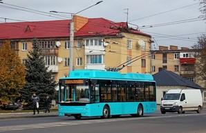 В Луцке заметили обкатку нового троллейбуса «Богдан» для Хмельницкого