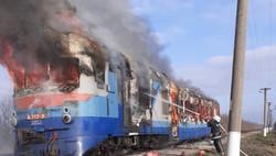 В Николаевской области сгорел дизель-поезд Одесской железной дороги