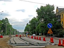 В Киеве реконструируют трамвайную линию на улице Алмаатинской