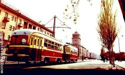 Трамваю города Каменского в Днепропетровской области 84 года