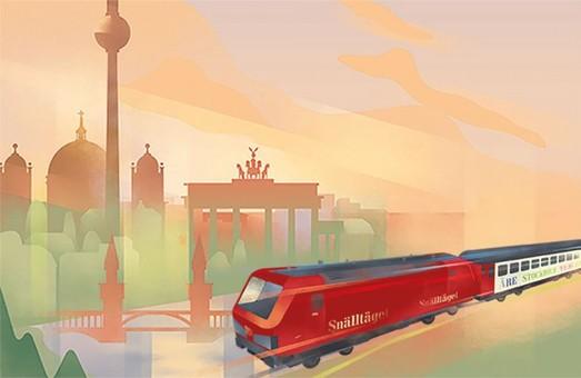 Ночные поезда, которые курсируют между Швецией и Германией становятся популярнее