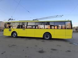 Во Львове капитально восстановили еще один троллейбус