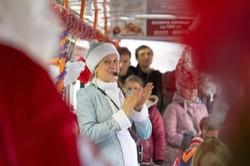 На католическое Рождество в Днепре курсировал праздничный трамвай