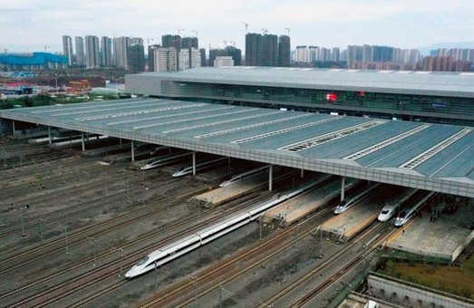 В Китае открыли новую высокоскоростную железную дорогу