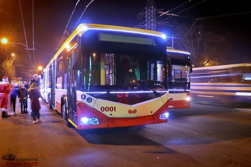 В Новогоднюю ночь общественный транспорт Одессы будет работать до утра