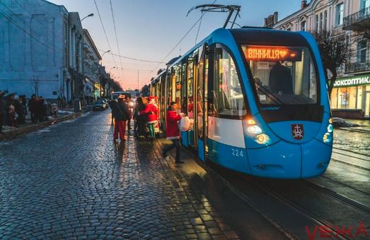 В первый день Нового Года коммунальный транспорт Винницы был бесплатным