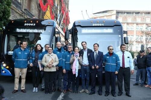 Мехико получило 63 новых троллейбуса