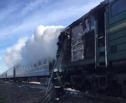 Вчера на Одесской железной дороге горел локомотив пассажирского поезда