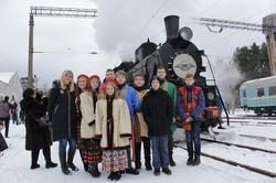 На новогодние праздники во Львове курсировал «Праздничный паровоз»