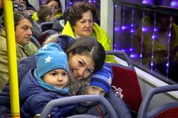 По Одессе проехали украшенные гирляндами рождественские трамваи (ФОТО, ВИДЕО)