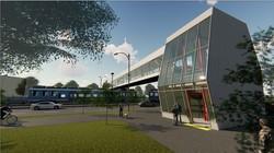 В Киеве ремонтируют пешеходные мосты на станциях Борщаговского скоростного трамвая