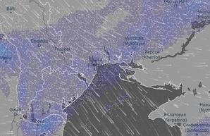 Как выглядит заваленная снегом трасса Одесса - Рени (ВИДЕО)