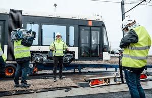 В датский город Оденсе привезли первый трамвай