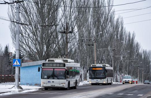 Как в троллейбусах Бахмута считают пассажиров-льготников