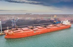 В порту Пивденный под Одессой на судно «Berge Odel» погрузили более 200 тысяч тонн железорудного концентрата