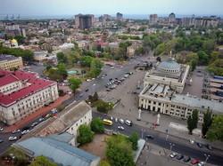 Одесский железнодорожный вокзал с высоты птичьего полета (ФОТО)