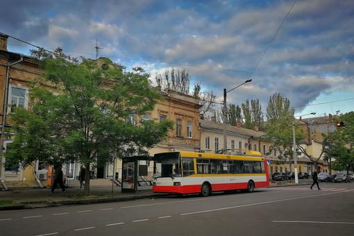 В Одессе запустили электробус вместо временно отмененного троллейбуса №2