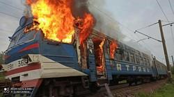 Сгорела электричка Одесской железной дороги (ФОТО)