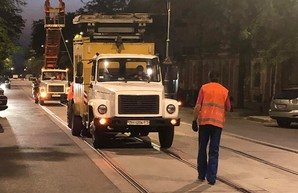 В Одессе на улице Софиевской готовятся к запуску трамвая