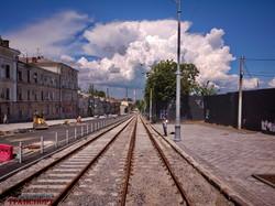 Реконструкция спуска Маринеско заканчивается: трамвай обещают запустить в июле (ФОТО, ВИДЕО)