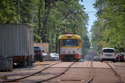 В Одессе пошли трамваи по спуску Маринеско: пока это обкатка линии (ФОТО, ВИДЕО)