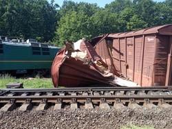 На Одесской железной дороге крупная авария грузового поезда (ФОТО)