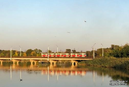 В Кривом Роге впервые за семь лет запустили трехвагонный состав на скоростном трамвае (ФОТО)
