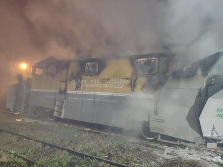 В Белгороде-Днестровском был пожар на железной дороге (ФОТО)