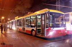 Парад новогодних троллейбусов проехал по Одессе (ФОТО, ВИДЕО)