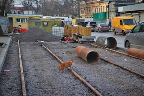Новощепной Ряд в Одессе не успели завершить к концу 2020 года (ФОТО)