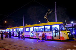 Как будет ехать по Одессе рождественский парад трамваев