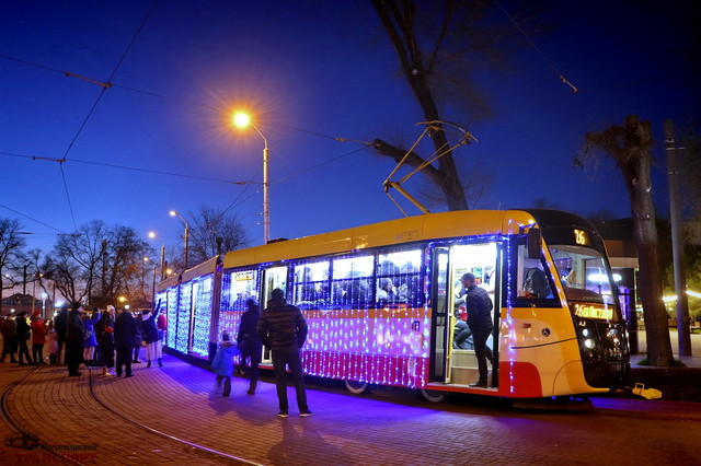 Парад рождественских трамваев в Одессе переносят с 7 на 8 января